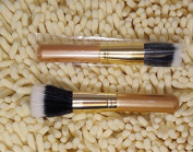 Smile Gold colour Loose powder Mineral Makeup Brushes cosmetics brush Face brush