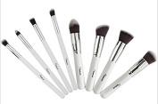 Smile 8pcs White Basic Brushes Makeup Essential Brush Kit Cosmetic Set