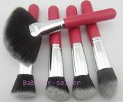 Smile 5pcs different Makeup Brushes Set Red handle Face Foundation Kabuki Brushes