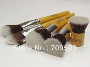 Smile 6pcs Face Make Up Eyeshadow Kit Cosmetic Brush Set Wood handle + Eco bag