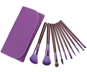 Smile 10 purple brush Wood Handle +bag