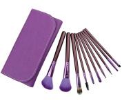 Smile 10 purple brush Wood Handle +bag