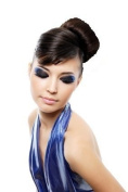 "SUPER BUN - BIG STYLED 30% LARGER ""AIRLINE STEWARDESS"" BUN - 60's LOOK - DARK BROWN"
