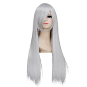 Amybria Straight 70cm Weight 410ml Heat Resistant Anime Costume Cosplay Wig All-macth Long Straight Hair With Free Wig Cap Yellow