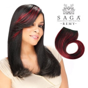 Milky Way Remy Human Hair Weave Saga Clip-in Bang Piece 18cm