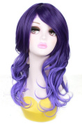 L-email 45cm Long Purple Gradient Wave Anime Cosplay Wig zy103