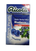 Ricola Herbal Sugar Free Blueberry Fresh Mints