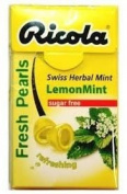Ricola Herbal Sugar Free Lemon Fresh Mints
