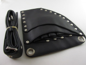 Barber Scissors Shears Holder Holster Leather Bag Hairstylist Toolkit Black Colour