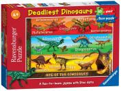 Deadliest Dinosaurs - Floor Puzzle - 60 Pieces