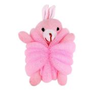 Ayygift Baby Kids Mesh Body Scubber Bathing Pouffe Shower Pouffe Sponge Cute Doll