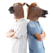 New Creepy Funny Latex Horse Head Mask Halloween Costume Party Christmas Theatre Prop Novelty