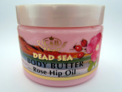 Dead Sea Body Butter Cream 300 Ml /10.2 Oz Rose Oil Mineral Israel Beauty Skin Scrub Body Israel for All Skin Vitamins Minerals