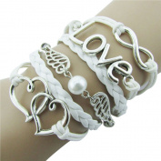 ZPS Cute Sweet Lovely Leather Bracelet for Women Girls