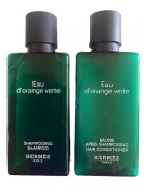 Hermes d'Orange Verte Shampoo & Conditioner lot of 10 (5 of each) 40ml bottles