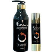 MoReturn Natural Herbal Shampoo 500ml & Hair Tonic 100ml SET