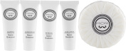 MOR Snow Gardenia Travel Set Shampoo, Conditioner, Body Cream, Bath Gel, Soap