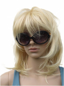 WIG PERUQUE BLONDIE (GET THE ORIGINAL DEBBIE HARRY HAIR LOOK) MID LENGTH IN BLONDE MIX