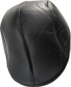 Leather Like Ivy Newsboy Flat Cap Black - Large