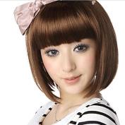 Short BOB Wig Health Straight Wig- Light Brown