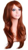 YOPO 70cm Long Big Wavy Hair Heat Resistant Cosplay Wig