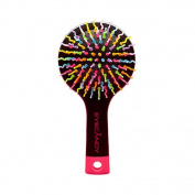 INFO Patented Rainbow S-Curl Air Volume Brush With Back Mirror for Abundant hair & Detangling Comb