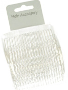 Set of 4 Clear Plain Hair Combs Slides 8cm