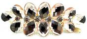 Vwhite Womens Flowers Crystal Rhinestones Hair Clips Accessories For Girl 7.1cm