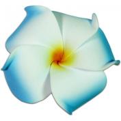Foam Flower Medium Hair Clip Plumeria Blue, White