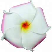 Foam Flower Medium Hair Clip Plumeria Pink, White