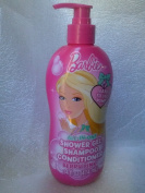 Barbie All-in-one Shower Gel Shampoo Conditioner Berry Pink