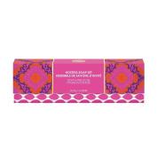 Upper Canada Soap Macbeth Boho Chic Mini Soaps In Box, Peony and Pink Lychee