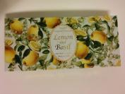 Saponificio Artigianale Fiorentino Lemon and Basil 3 X 130ml Soap Set From Italy