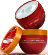 Hydrating Argan Oil Hair Mask by Arvazallia - SAVE 60% TODAY! Deep Conditioner and Restorative Treatment for Dry or Damaged Hair - Guaranteed to Repair, Restore, and Revitalise Your Hair