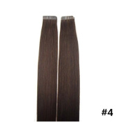 BTArtbox 46cm - 60cm Full Head Custom Ombre Tape In Extensions , Highest Quality Remy Human Hair , Your Choice of 04 Medium Brown