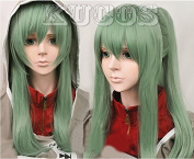 Kagerou Project Kido 1 Wig+ 1 Clip on Ponytail Straight Long Cosplay Wig Hair Party Full Wigs