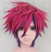 No Game No Life Handsome Boy Cosplay Wig Rose Purple Mixed Costume Hair