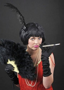1920s Flapper Girl Black Bob China Doll Wig