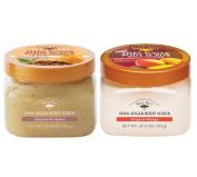 Tree Hut Shea Sugar Body Scrub Bundle - 1 Tropical Mango 530ml and 1 Almond & Honey 530ml