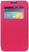 Reiko Fitting Case with TPU Material LG Optimus F3 Ms659 - Retail Packaging - Hot Pink