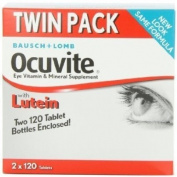 Bausch and Lomb Ocuvite With Lutein, 2 - 120-Count Bottles