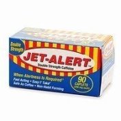 When Alertness Is Required - Jet Alert Double Strength Alertness Aid Caplets, 200mg-90 ct