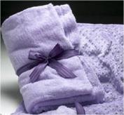 Sonoma Lavender Spa Blankie Embroidered Lavender