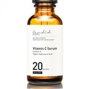 Organic Vitamin C Serum For Face 20% - Anti Ageing Anti Wrinkle With Natural Ingredients Contains Vitamin E, Ferulic Acid And Vegan Hyaluronic Acid To Rejuvenate, Protect, And Restore Skin Cells - Best Topical Skin Care Antioxidant Formula Is Designed  ..