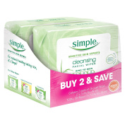 Simple Simple Kind To Skin Cleansing Facial Wipes, Twin Pack, 50 Count
