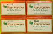 Proven Effective Kojic Acid Soap Skin Lightening Whitening Bar