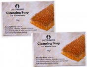 Cleansing Soap with Manuka Honey and Manuka Tree Leaf - Set of Two
