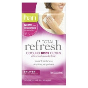 Ban Total Refresh Cooling Body Cloths - Enliven 10-Count