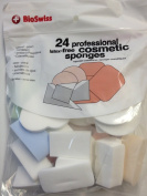 Professional Latex Free Cosmetic Sponges 24 Count for Foundation Make Up