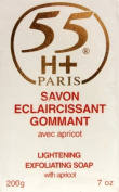 55H+ Eclaircissant Lightening Exfoliating Soap with Apricot 210ml